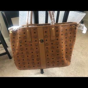Authentic MCM LARGE LIZ TOTE Handbag